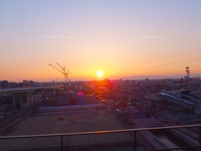 初日の夕日